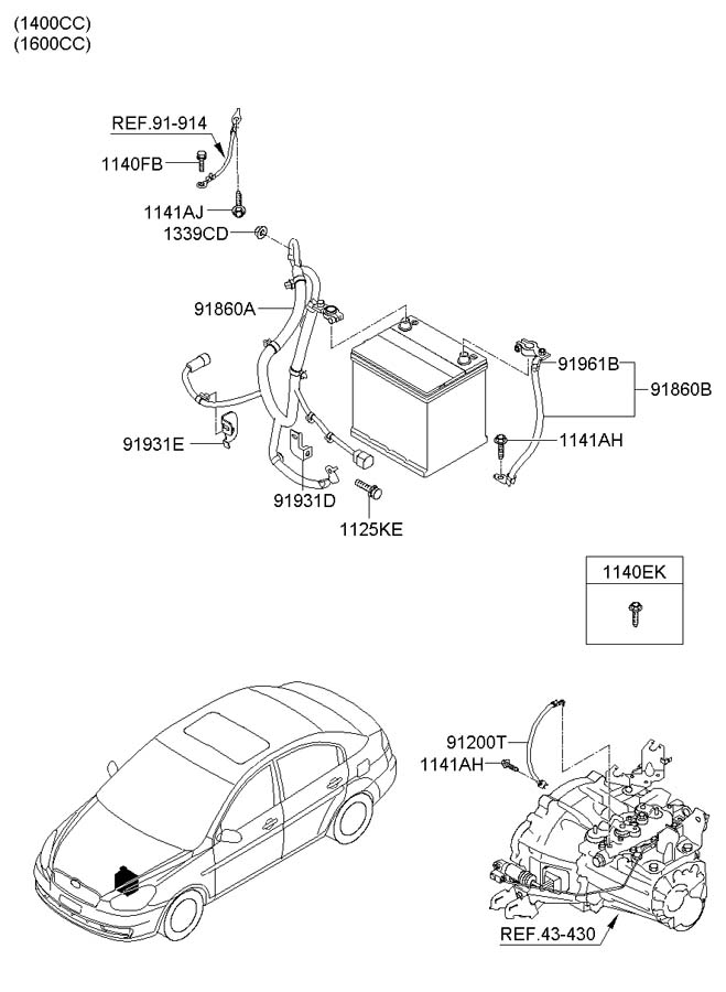 918501e020 - hyundai wiring assembly
