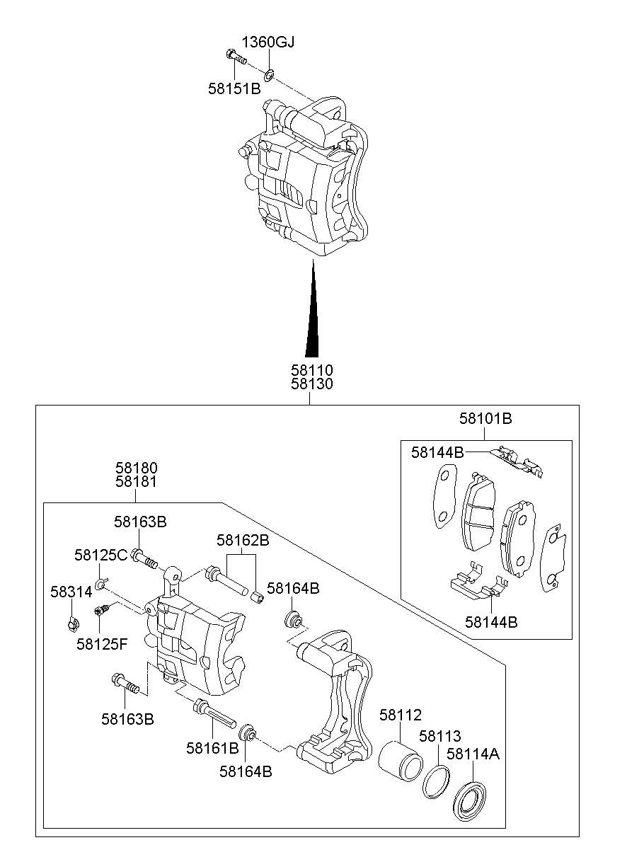 581011ra00 - Hyundai Pad Kit