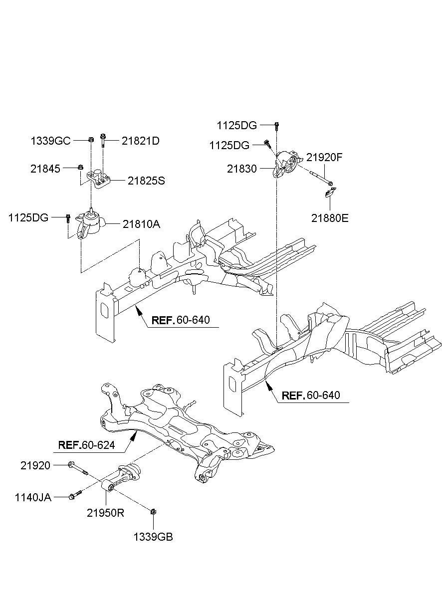 Hyundai Elantra Bracket Assembly