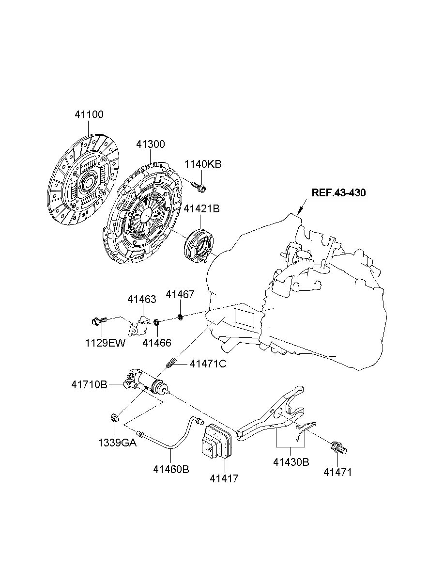 2015 Hyundai Accent Cylinder  Clutch  Slave  Assembly
