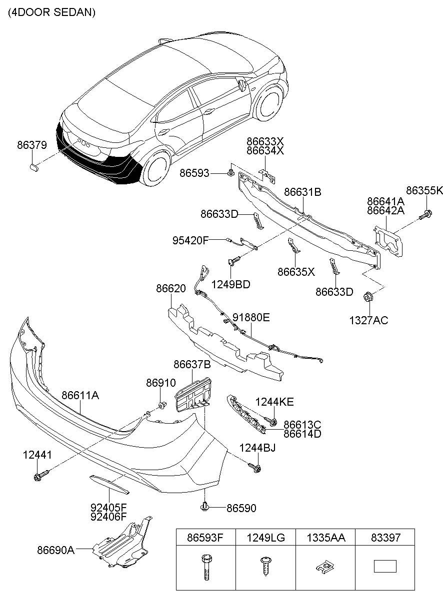 Hyundai Elantra Grommet - Screw  Systemrpas  Mfr