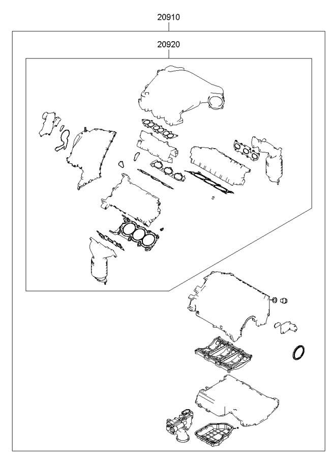2009 hyundai azera gasket kit engine overhaul unleaded. Black Bedroom Furniture Sets. Home Design Ideas