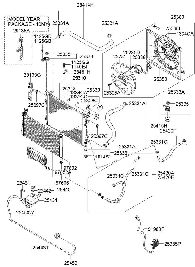 2007 Hyundai Azera Label  Caution  Engine  Decal  Labels