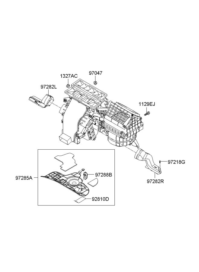 971332b010 - hyundai filter assembly
