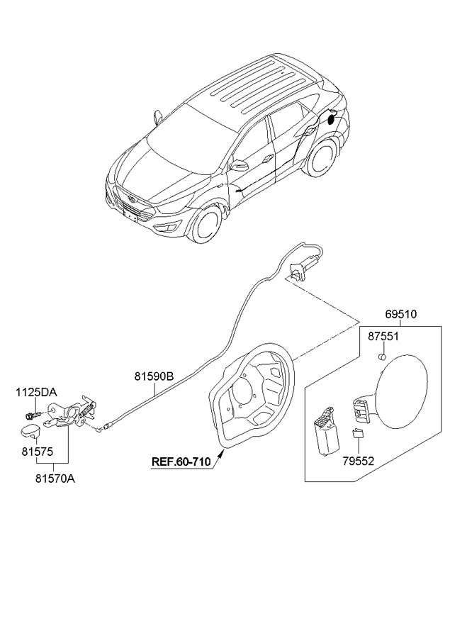 815702h001 - Hyundai Handle Assembly
