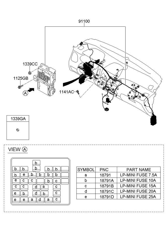 1879001108 hyundai lp mini fuse 10a junction. Black Bedroom Furniture Sets. Home Design Ideas