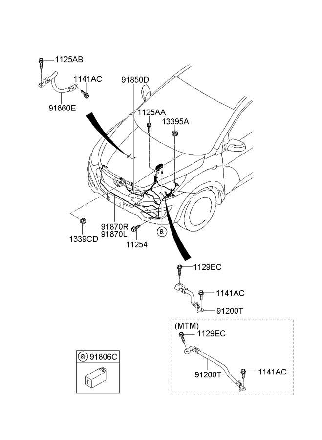 952252s000 - Hyundai Relay Assembly
