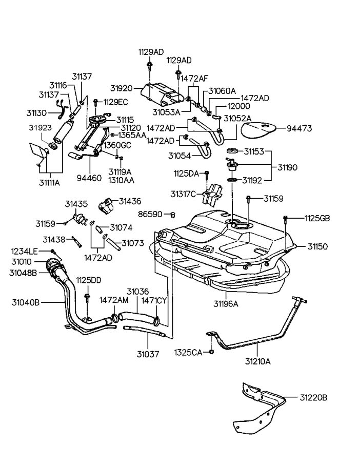 1996 Hyundai Accent Engine Diagram Engine Car Parts And Component