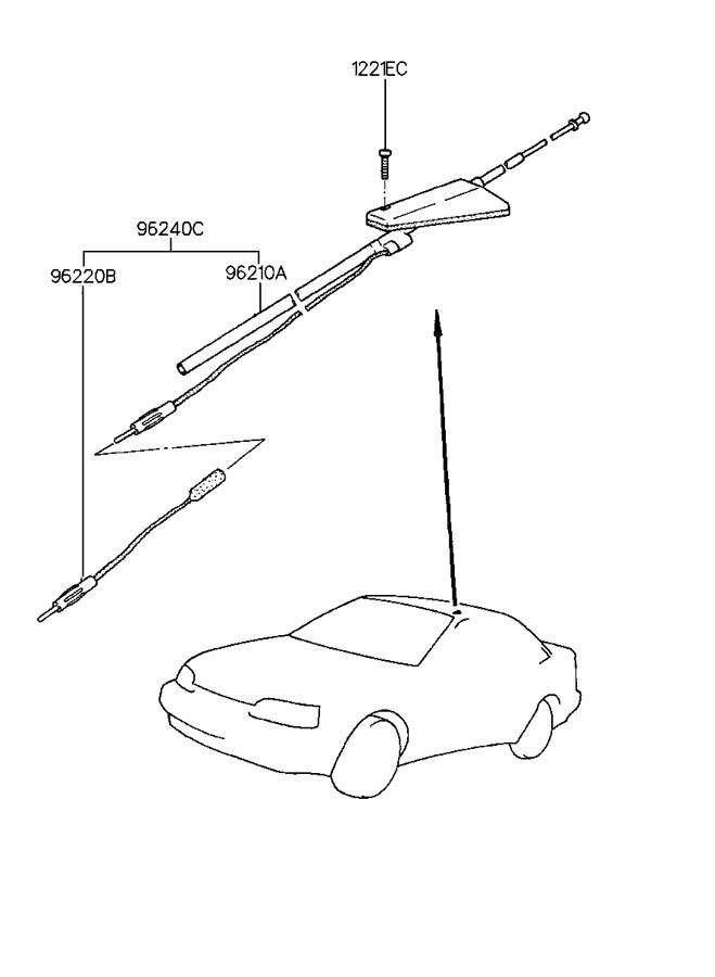 1994 Hyundai Scoupe Antenna Assembly - Radio