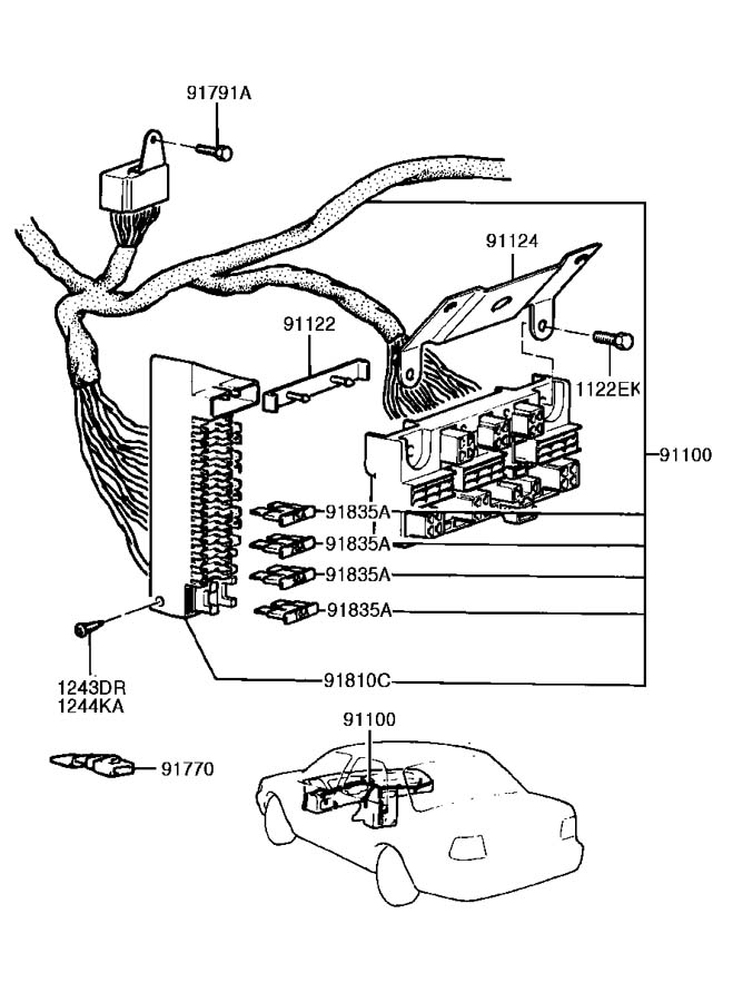 1994 hyundai excel main wiring
