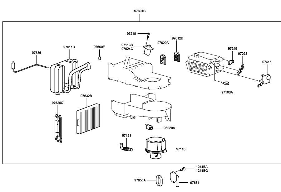 Service Manual Replace Heater Fan 2007 Hyundai Santa Fe