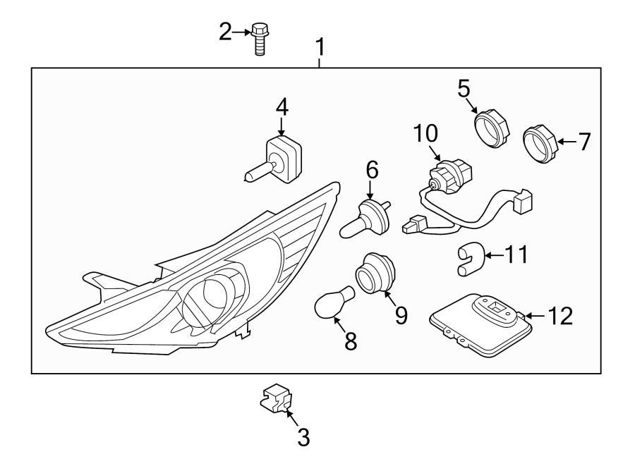 2013 Hyundai Sonata Cap  Bulb  Dust  Cover  Beam  Included