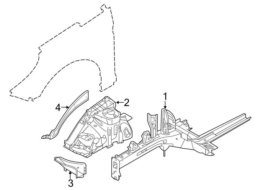 Hyundai Sonata Apron Assy Bracket  Fender Apron Bracket  W