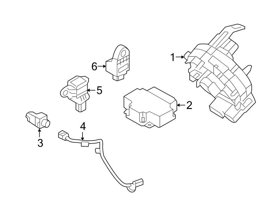 hyundai sonata harness  wiring  sensor  impact  airbag