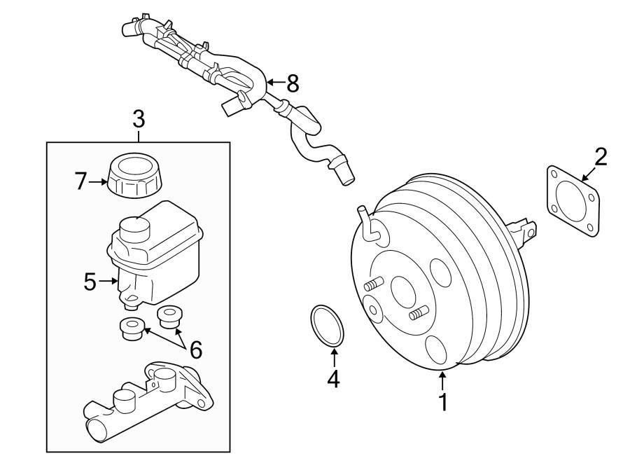 2013 hyundai cap  reservoir  brake  master  cylinder  assembly - r