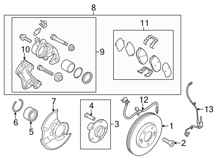 2014 Hyundai Elantra Brake  Pads  Kit  Disc  Disc Pad Set