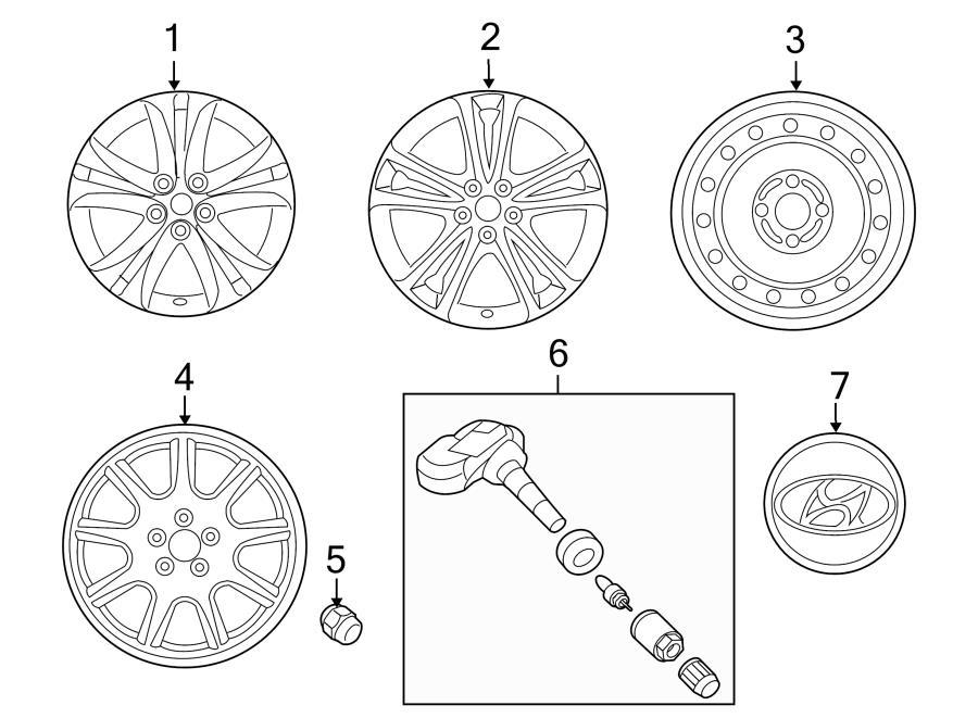 529102m120 - hyundai wheel assembly
