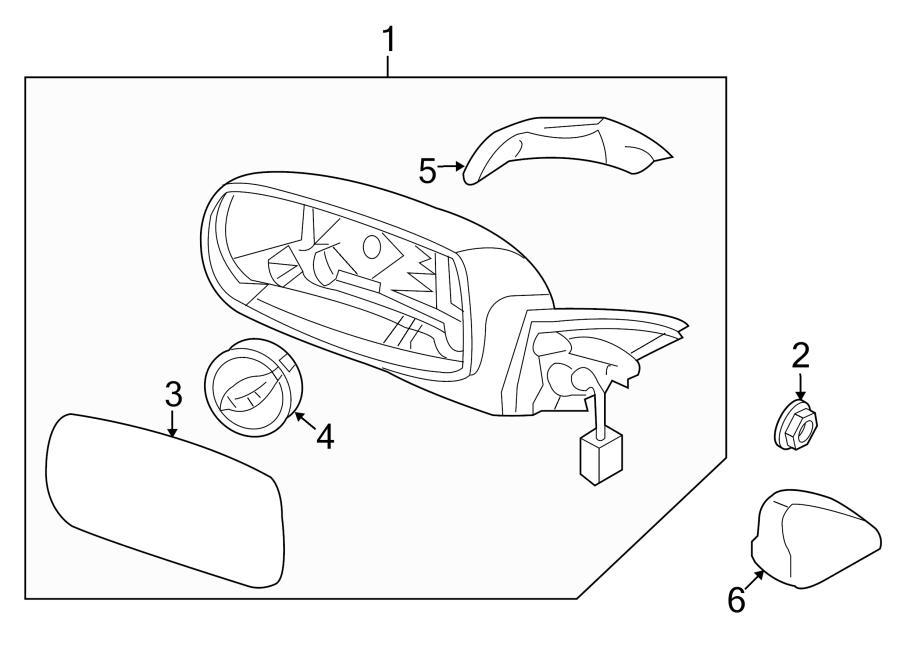 876102m130 hyundai door mirror mirror assembly. Black Bedroom Furniture Sets. Home Design Ideas
