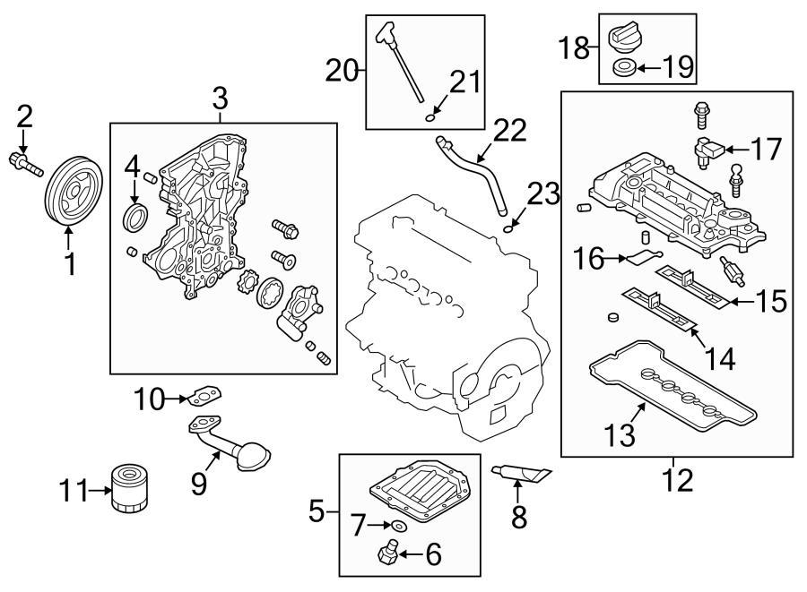 Hyundai Veloster Engine Crankshaft Seal  Rear Main Seal