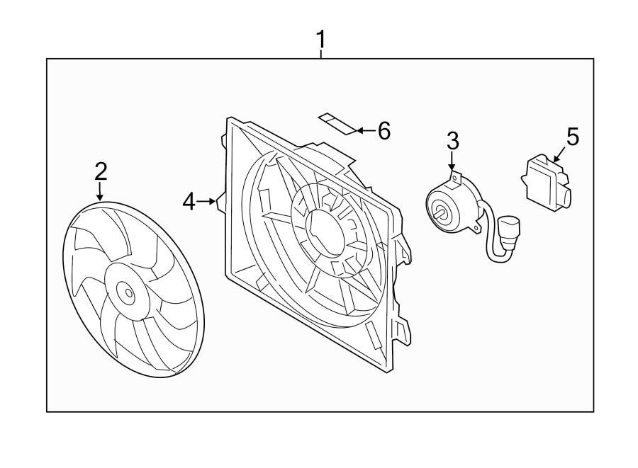 2014 Hyundai Veloster Control Module  Engine Cooling Fan