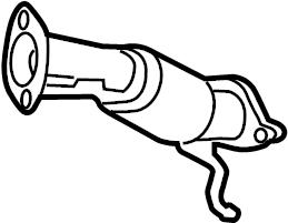 286103Q110 - Hyundai Muffler assembly. Pipe. (front ...