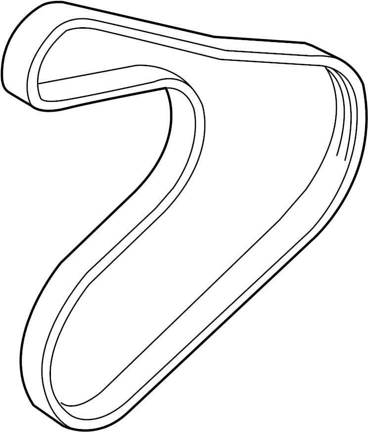 252122b030 - Hyundai Ribbed Belt
