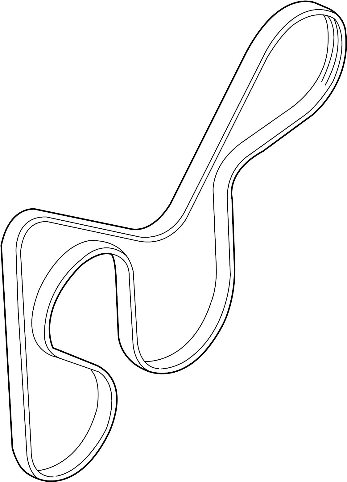 252122b020 hyundai ribbed belt v serpentine belt v. Black Bedroom Furniture Sets. Home Design Ideas