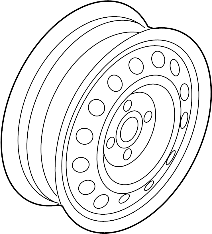 529102m910 - hyundai wheel  spare  assembly