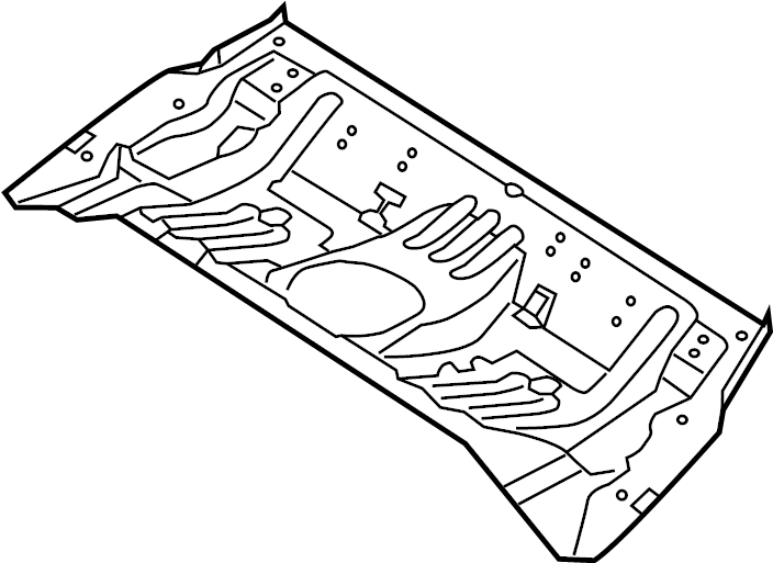655123x000 Hyundai Panel Assembly Rear Rear Rr