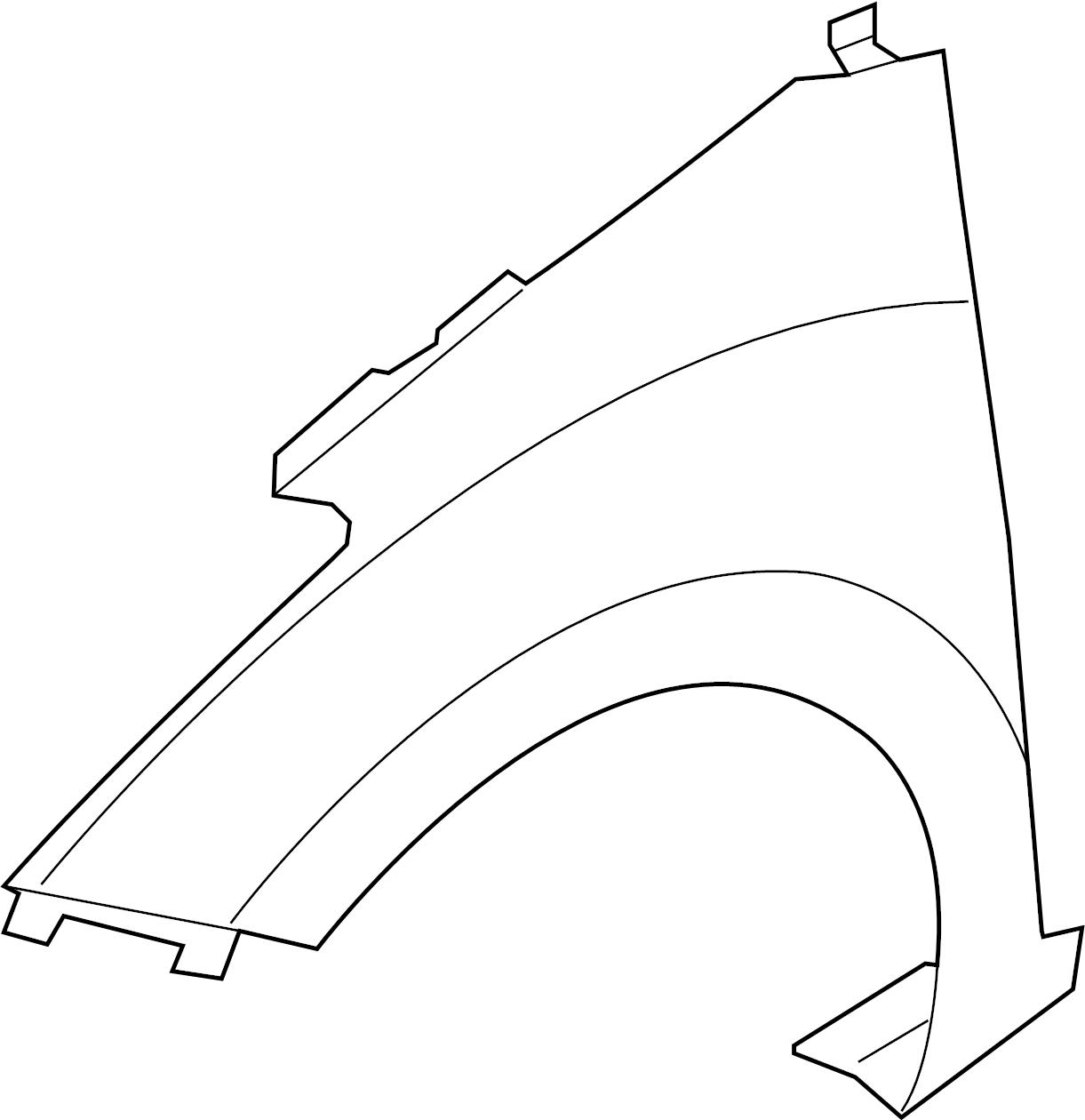 2016 hyundai elantra gt fender assembly  panel - fender  right hand  rh