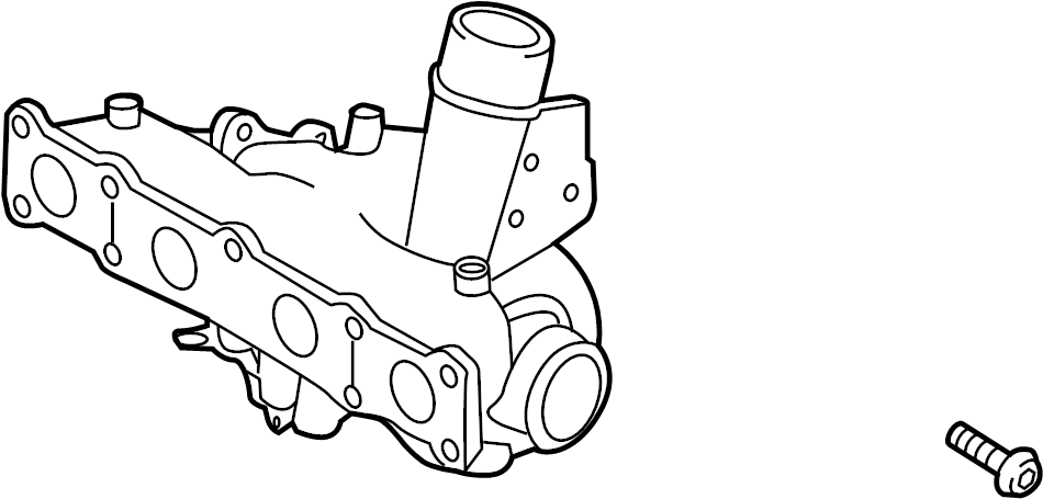 282312G410 - Hyundai Exhaust Manifold. TURBOCHARGER ...