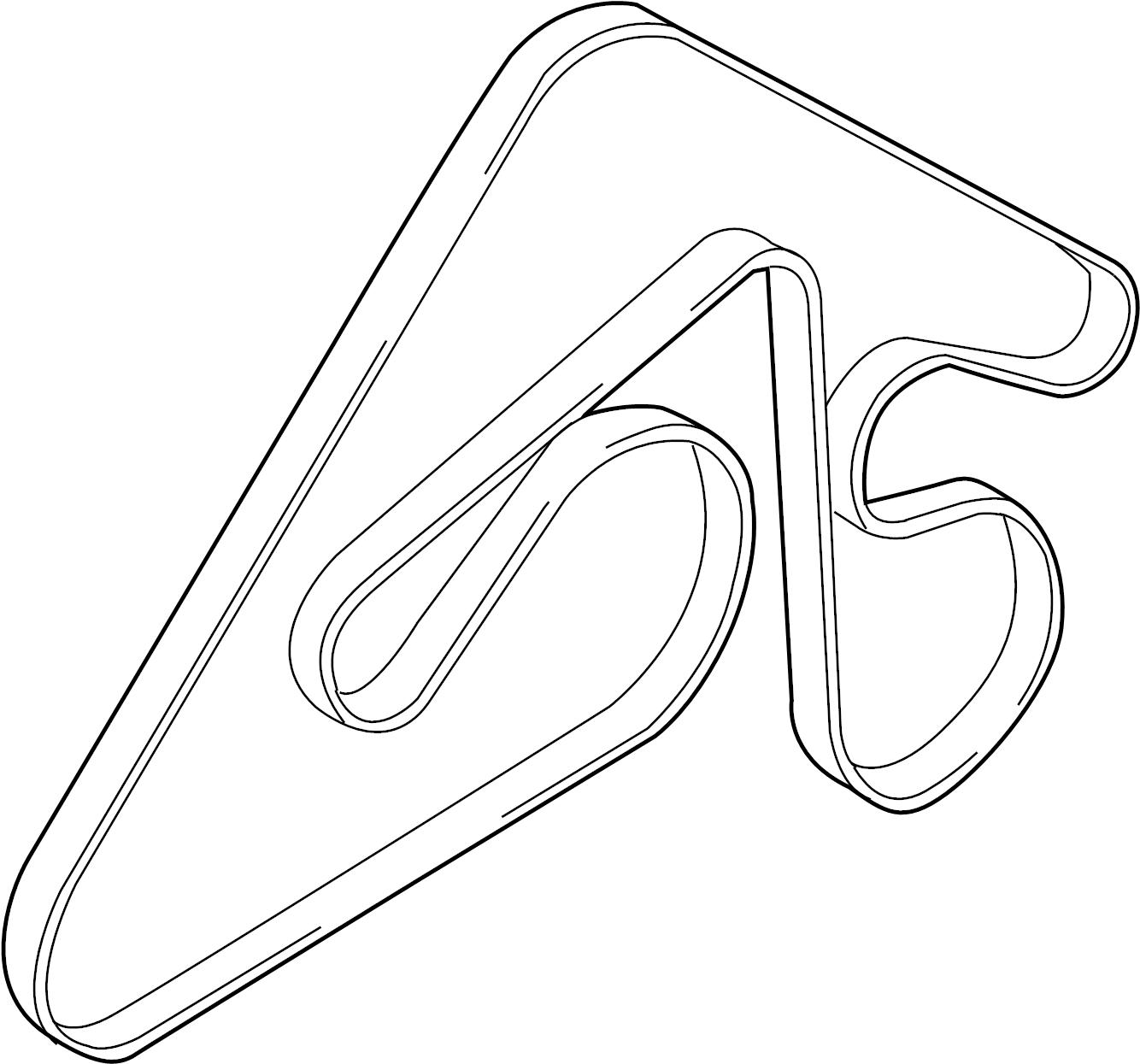 252123f360 - hyundai ribbed belt