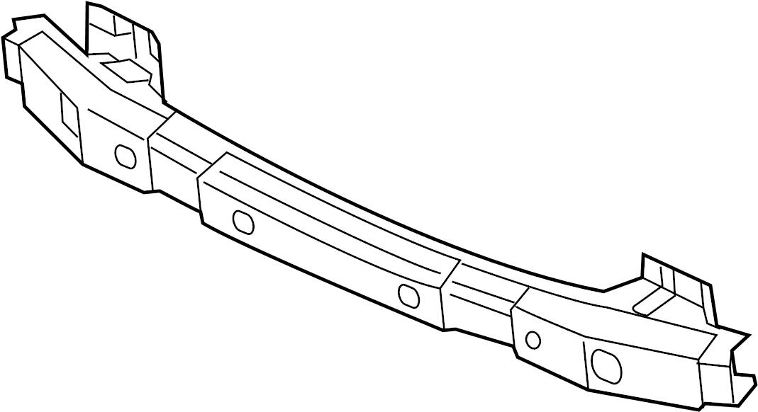 865302m500 - hyundai impact  bar  reinforced  rail  bumper  assembly