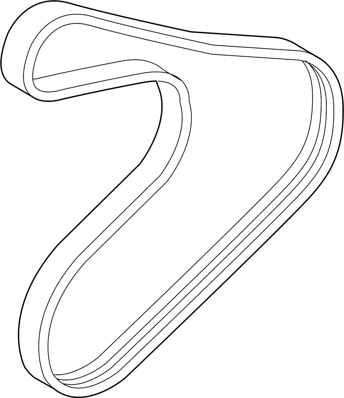 252122b020 - Hyundai Ribbed Belt